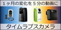 1ヶ月の変化を5分の動画に タイムラプスカメラ